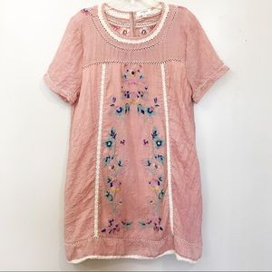 Umgee Embroidered/crochet lace dress size M